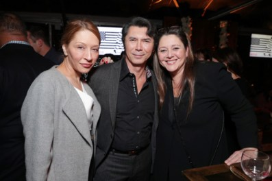 """Yvonne Boismier Phillips, Lou Diamond Phillips and Camryn Manheim seen at Netflix's original documentary """"13TH"""" reception hosted by Netflix Chief Content Officer Ted Sarandos and Ambassador Nicole Avant with a special conversation moderated by Oprah Winfrey with director Ava DuVernay and Van Jones] on Sunday, January 15, 2017, in Los Angeles, CA. (Photo by Eric Charbonneau/Invision for Netflix/AP Images)"""