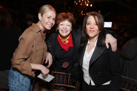 """Chelsea Handler and Frances Fisher seen at Netflix's original documentary """"13TH"""" reception hosted by Netflix Chief Content Officer Ted Sarandos and Ambassador Nicole Avant with a special conversation moderated by Oprah Winfrey with director Ava DuVernay and Van Jones] on Sunday, January 15, 2017, in Los Angeles, CA. (Photo by Eric Charbonneau/Invision for Netflix/AP Images)"""