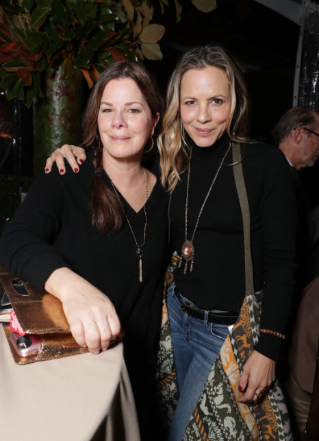 """Marcia Gay Harden and Maria Bello seen at Netflix's original documentary """"13TH"""" reception hosted by Netflix Chief Content Officer Ted Sarandos and Ambassador Nicole Avant with a special conversation moderated by Oprah Winfrey with director Ava DuVernay and Van Jones] on Sunday, January 15, 2017, in Los Angeles, CA. (Photo by Eric Charbonneau/Invision for Netflix/AP Images)"""