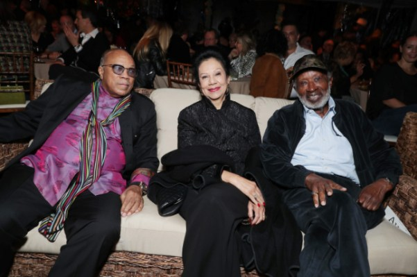 "Quincy Jones, Jacqueline Avant and Clarence Avant seen at Netflix's original documentary ""13TH"" reception hosted by Netflix Chief Content Officer Ted Sarandos and Ambassador Nicole Avant with a special conversation moderated by Oprah Winfrey with director Ava DuVernay and Van Jones] on Sunday, January 15, 2017, in Los Angeles, CA. (Photo by Eric Charbonneau/Invision for Netflix/AP Images)"