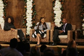 "Oprah Winfrey, Ava DuVernay and Van Jones seen at Netflix's original documentary ""13TH"" reception hosted by Netflix Chief Content Officer Ted Sarandos and Ambassador Nicole Avant with a special conversation moderated by Oprah Winfrey with director Ava DuVernay and Van Jones] on Sunday, January 15, 2017, in Los Angeles, CA. (Photo by Eric Charbonneau/Invision for Netflix/AP Images)"