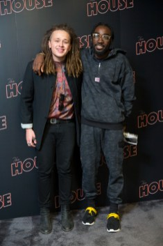 LONDON UK : Luke Friend and guest attend the Casino Screening of The House. (Credit James GIllham/StillMoving)