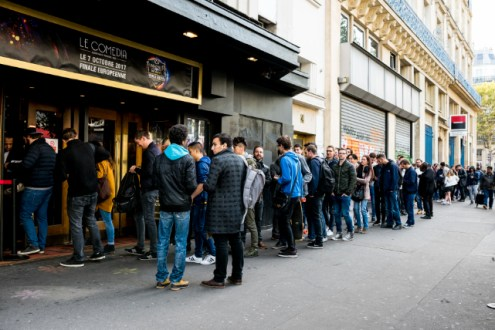 SWC2017_The line outside Le Comedia stretched around the block and event was sold out