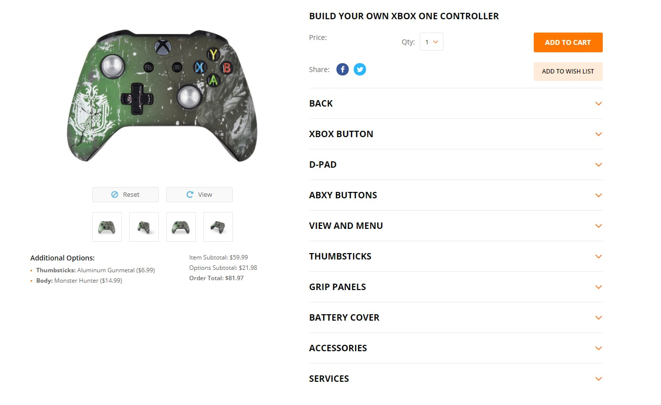 Mega Modz Xbox One And Playstation 4 Custom Controller