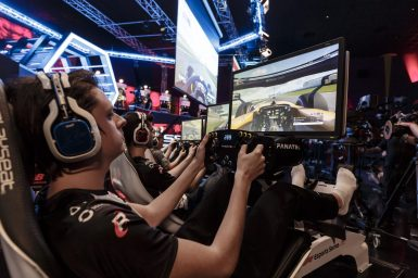 Esports drivers compete in the F1 New Balance Esports Series at GFinity Arena [3]