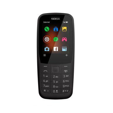 HMD Global_Nokia 220 4G_Black_Front_SS