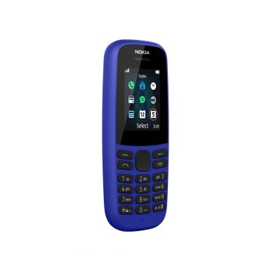 HMD_Nokia 105__Blue_SS_FRONT_QTR_RIGHT