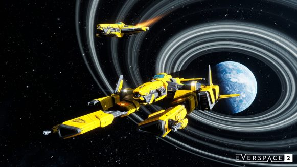 ES2 Medium Fighter Class Player Ship 01