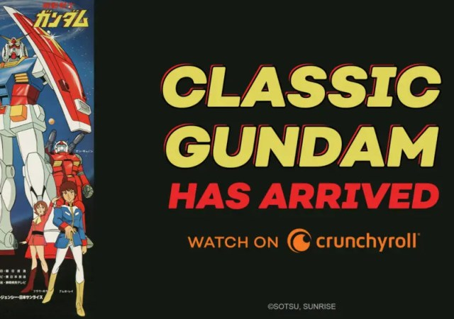 Classic Mobile Suit Gundam premieres on Crunchyroll