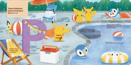 Pokémon Primers ABC Book Interior Spread 2 (flaps closed)