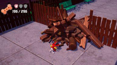 Marshall chopping wood 1