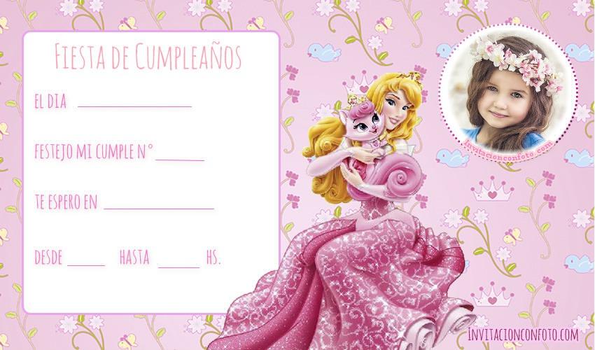 invitaciones de princesa para editar con foto