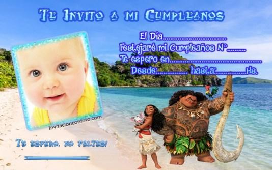 invitacion con foto