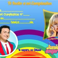Invitación de Cumpleaños TOPA Junior Express con Foto