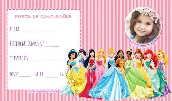 tarjetas de princesas disney