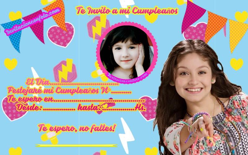 Tarjetas Soy Luna Fiesta Invitaciones De Cumpleaños