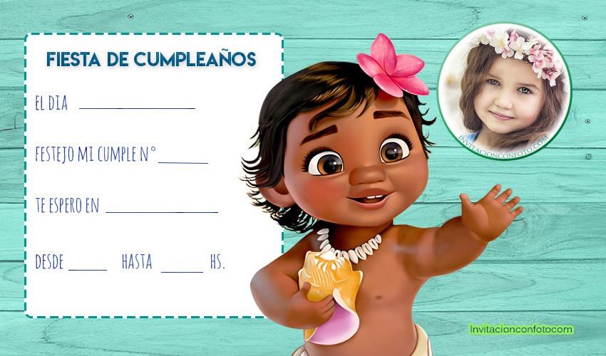 Tarjetas De Cumpleaños De Moana Invitaciones De Cumpleaños