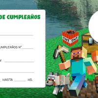 Invitaciones e Minecraft para editar con Foto