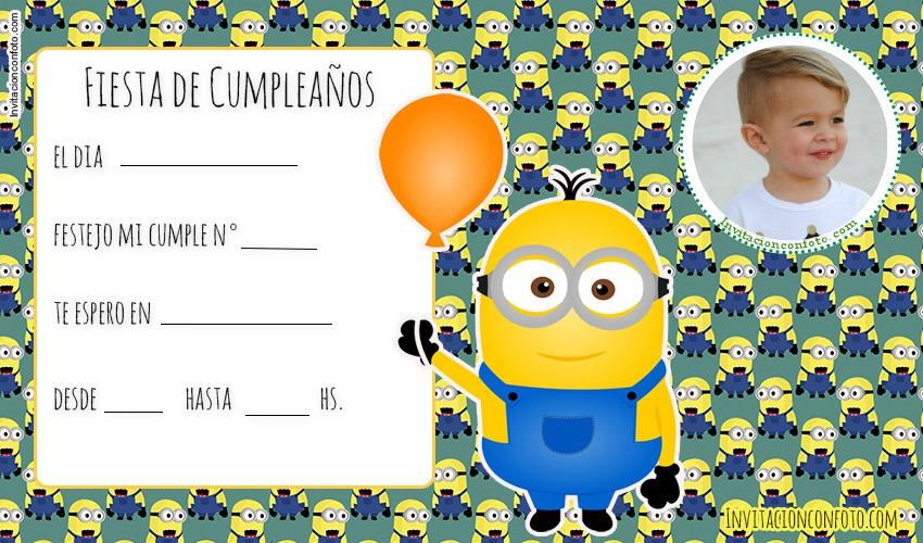 Minions Tarjetas De Cumpleaños Invitaciones De Cumpleaños