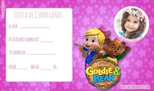 Goldie y Osito tarjetas de cumpleanos