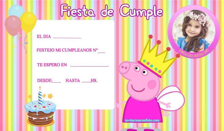 Tarjetas-de-Peppa-Pig-cumpleanos-invitaciones-peppa-pig-con-foto