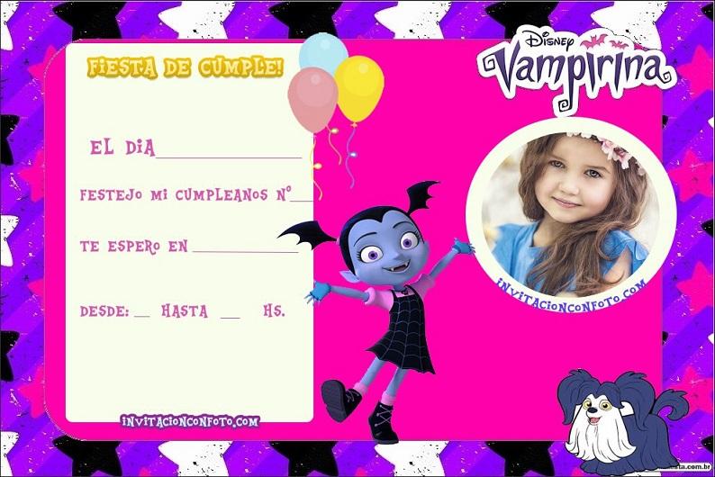 vampirina invitaciones cumpleanos gratis