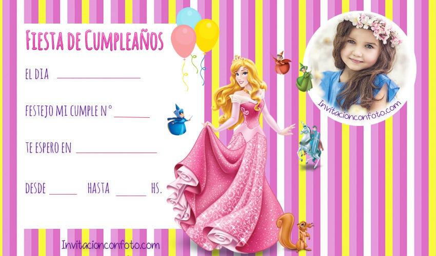 Tarjetas-de-Princesa-Aurora-cumpleanos - tarjetas fiesta bella durmiente