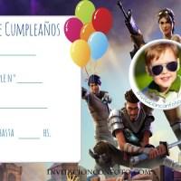 Invitaciones de Cumpleanos Fortnite con Foto
