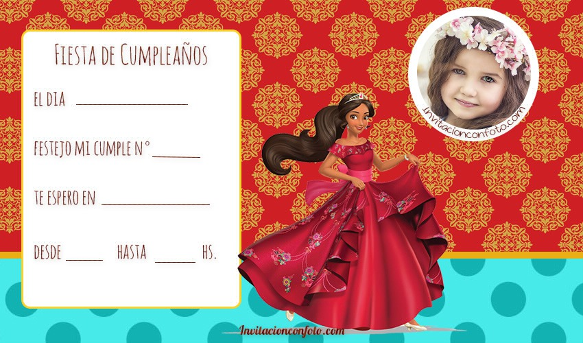 Elena de avalor invitaciones de cumpleanos - elena de avalor tarjetas cumpleanos
