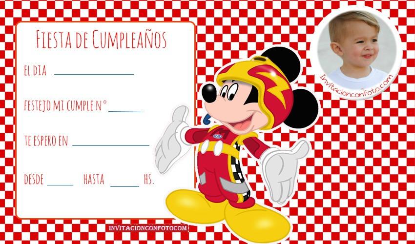 Invitaciones De Cumpleanos De Mickey Con Foto Invitaciones
