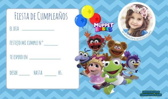 invitacion muppets Babies