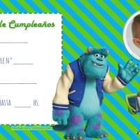 Invitaciones de Cumpleanos de Monsters INC con Foto