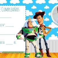 Invitaciones de Cumpleanos Toy Story con Foto