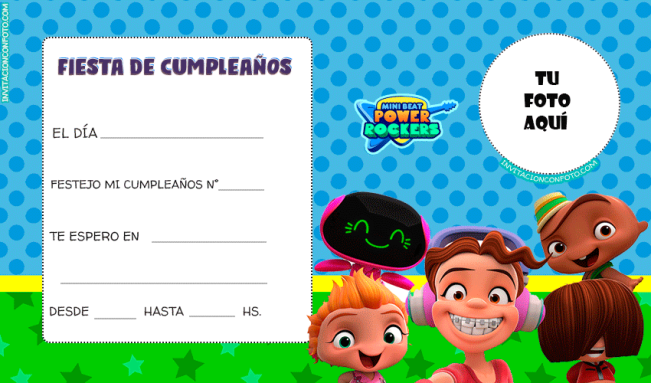 Tarjetas de Mini Beat power rockers
