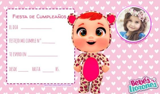 Tarjetitas Bebes Llorones cumpleanos invitaciones convites