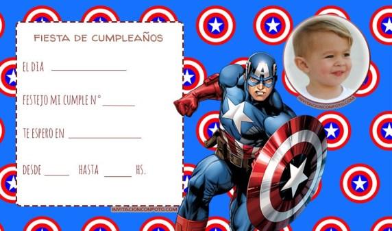 Tarjetas de Cumpleanos de Capitan America