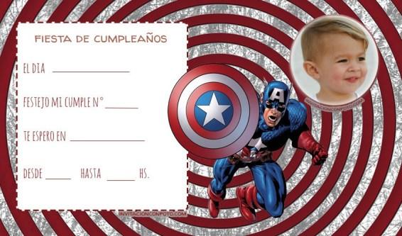 Convite capitan america