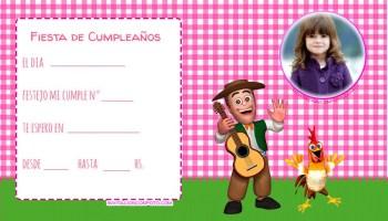 Invitaciones De Cumpleanos De La Granja De Zenon Con Foto