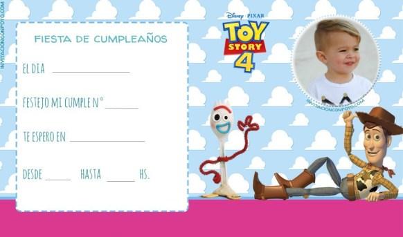Invitaciones de Toy Story Forky