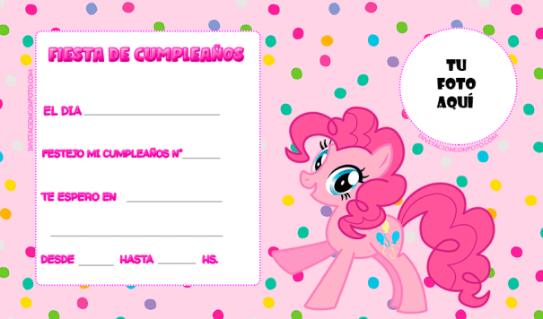 My little pony tarjetas