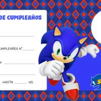 Invitaciones de Sonic para editar con Foto