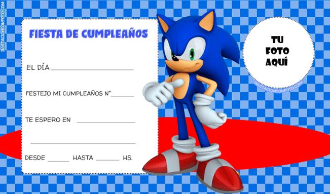 Tarjetas de Sonic cumpleanos