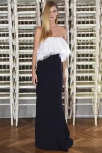 Alexis Mabille vestido encaje blanco y azul ss16 París