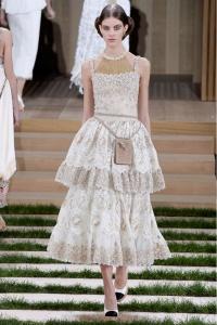 Chanel vestido volantes midi ss16 París