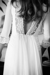 Vestido novia espalda Navacues