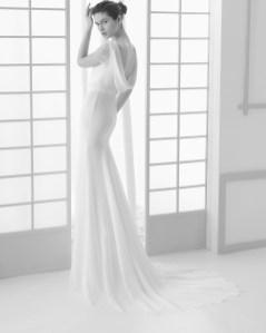 Vestido novia Rosa Clará espalda