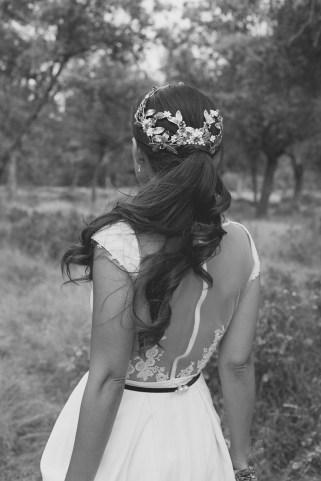 Espalda vestido novia Marcela Mansergas
