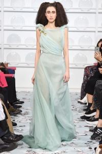 Schiaparelli vestido gasa en verde agua ss16 París