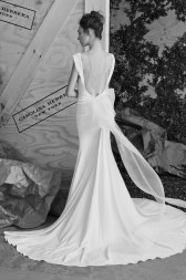 Carolina Herrera Novias Primavera 2017 modelo Andie B&N