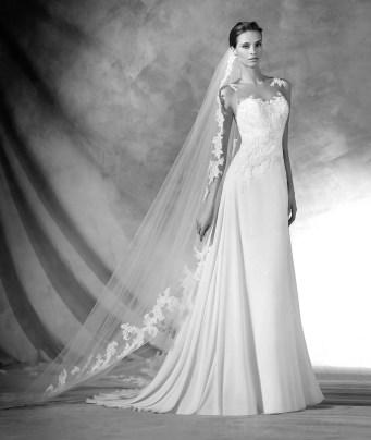 Vestido de novia modelo Pradal de Pronovias 2017